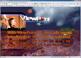 ViewPoint 3D advanced 3D live effects, including reflective and ocean surfaces