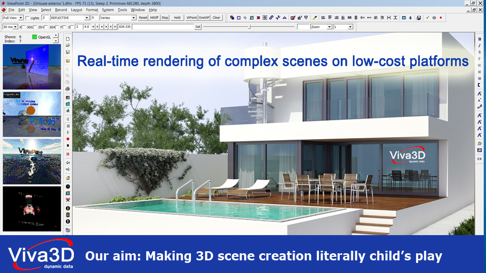 Viva3D architectural rendering